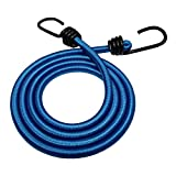 Bungee Cord with Hooks (3/8 in 4-Pack) - SGT KNOTS - Marine Grade Bungee Cords with 2 Hooks - Heavy Duty Bungie - Bunji Cord Straps - Bungees for Bikes, Tie Downs, Camping, Cars (32 in - Royal Blue)
