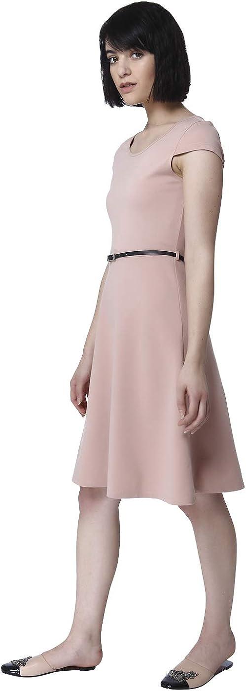 VERO MODA Damen Vmvigga Flair Capsleeve Dress Noos Kleid