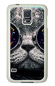 Cat 26-Wallpaper White Hard Case Cover Skin For Samsung Galaxy S5 I9600
