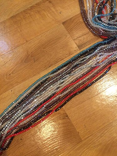 African Crystal Waist Beads (3 heavy strands in a pack) (Beads Waist)