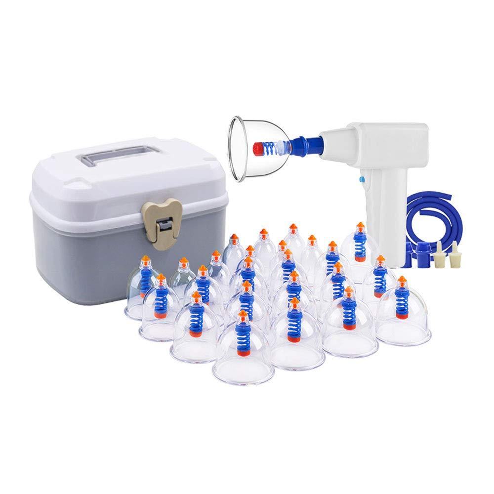 カッピング装置 - 家庭用電気プロフェッショナルカッピング治療装置24カップは、大人と高齢者に適したポンプと伸展チューブで設定 美しさ B07PMRX7J3