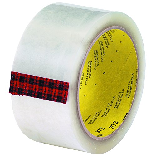 Scotch T901372 Clear #372 Carton Sealing Tape, 2
