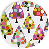 French Bull - Melamine 8-inch Holiday Plates - For Appetizers And Desserts - Dot Tree, Set Of 4