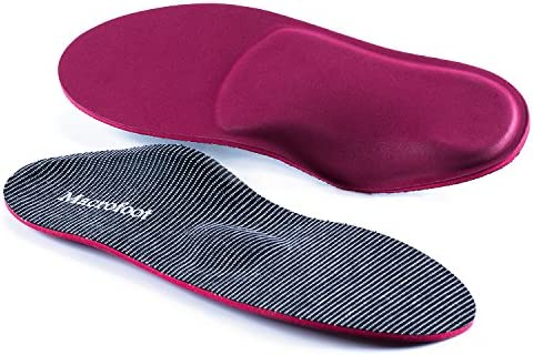 3cd06a9cb8 Orthotics Shoe Insoles/Inserts/Pads with High Arch Supports for Women&Men,Plantar  Fasciitis Boot Insole Over Pronation Metatasus Insoles (Red, ...
