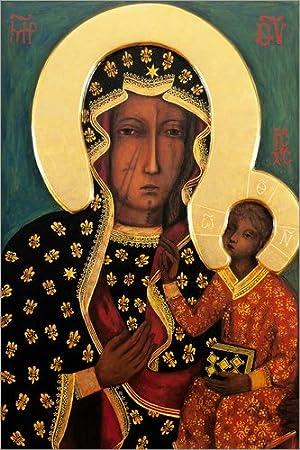 Posterlounge Acrylglasbild 20 x 30 cm: Schwarze Madonna von Tschenstochau von Lukas Druck auf Acryl Glas Bild Wandbild Acryl Glasbild