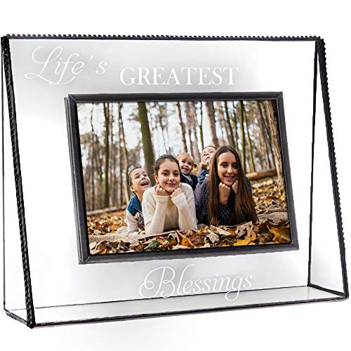 J Devlin Pic 319 Clear Photo Frame Engraved Life's Greatest Blessings Series (5x7 Horizontal)