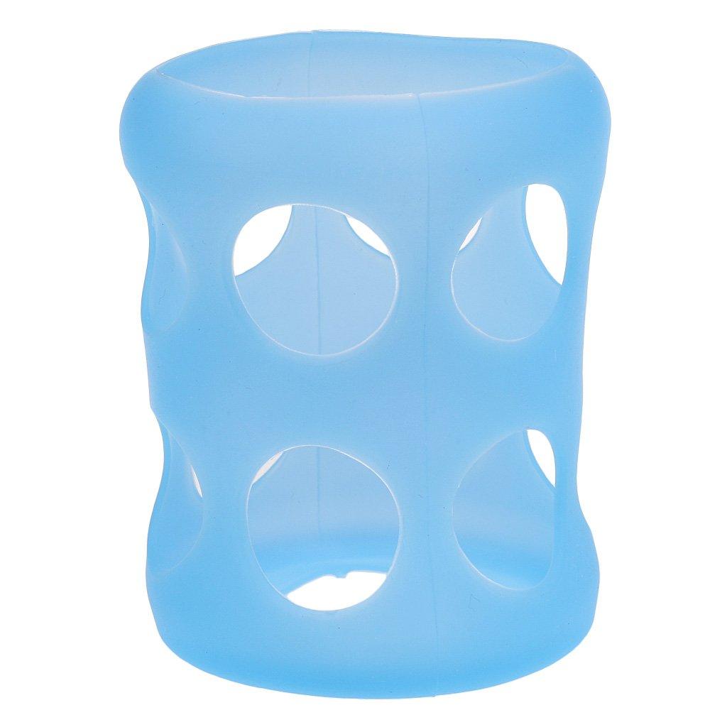 Sharplace Glas Baby Fü tterung Flasche Abdeckung Flasche Silikonhü lle Schü tzen Isolieren - Blau