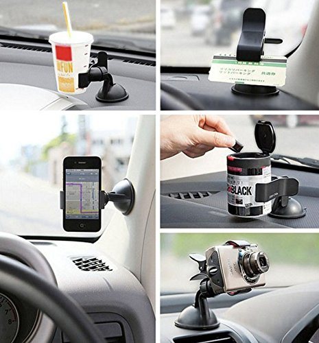Amazon.com: Universal 360 Degree Car Windshield Mount Cell Mobile Phone Holder Bracket Stands for iPhone 5 6 Plus Galaxy Note 2 3 S4 S5 GPS: Cell Phones & ...