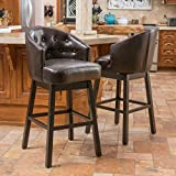 Christopher Knight Home 295978 Ogden KD Swivel Barstool, Brown Review