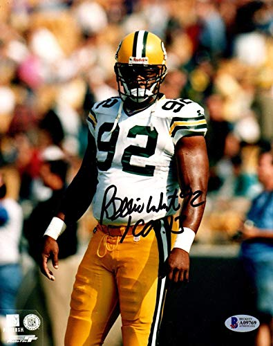 (Beckett-Bas Reggie White Green Bay Packers Autographed Signed-Autographed Signed 8x10 Photo A09769 - Certified Signature)