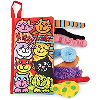 Jellycat Soft Cloth Fabric Books, Kitty Tails