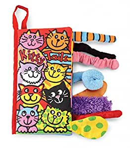 Jellycat Soft Cloth Baby Books, Kitty Tails