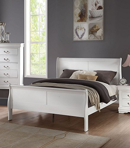 Acme Furniture Louis Philippe 23830Q Queen Bed, White