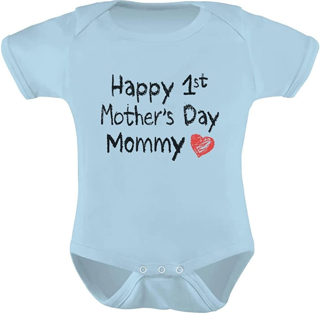 Happy 1st Mothers Day Momma Toddler//Kids Short Sleeve T-Shirt Kids Handwriting