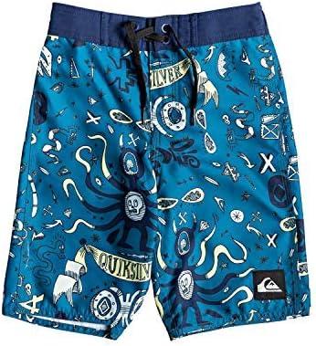 Little Mystery Bus Boy's 14 Boardshort Swim Trunk Medieval Blue 2 [並行輸入品]