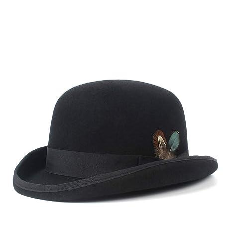Ddpvopd Cappello a Bombetta di Lana Cappello da Cowboy di Moda equestre da  Cowboy Cappello da 4862824051d5