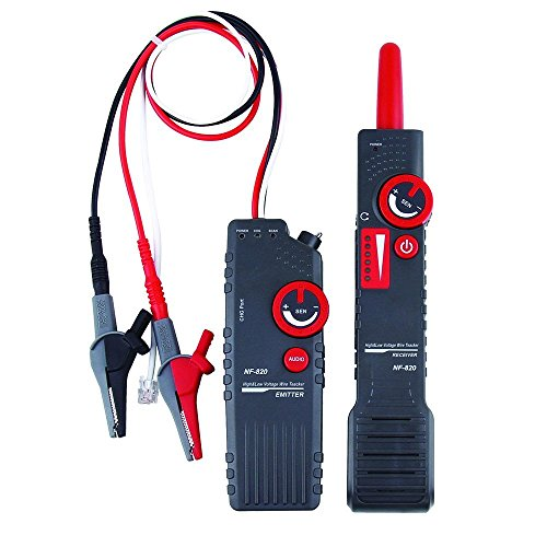 TIWWS 820 High & Low Voltage Underground Cable Wire Locator with Anti-Interference to Locate Pet Fence Wires, Sprinkler Control Wires, Metal Pipes