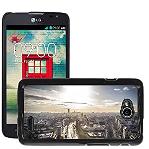 Hot Style Cell Phone PC Hard Case Cover // M00170190 Paris Eiffel Tower French France // LG Optimus L70 MS323