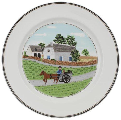 (Villeroy & Boch Design Naif dinner plate #1 Going to Market)