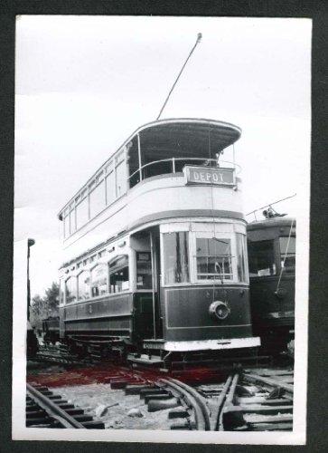 Double Decker Trolley Portland Maine snapshot 1956