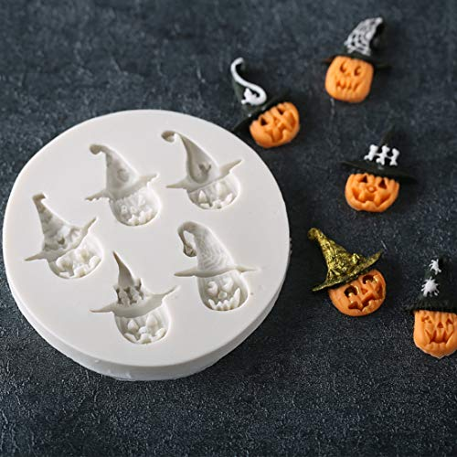 Fondant Cake Silicone Mould Halloween Skull Pumpkin Modeling Mold Dry Pez Chocolate Baking Tools -