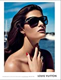 Magazine PRINT AD With Isabeli Fontana For 2010 LV Black Sunglasses