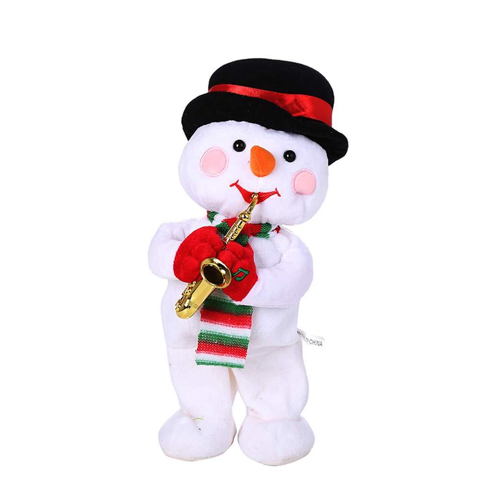 35cm クリスマス エレクトリック ダンシング シンギング プラッシュトイ 123ループ クリスマス 雪だるま エレクトリック ダンシング 歌手 アニメーション ぬいぐるみ おもちゃ ギフト B07J4Q2XY8