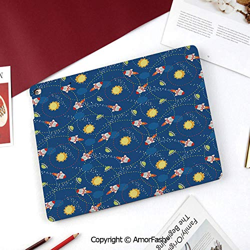 - Space Case for 2015 Galaxy Tab A Tablet (8.0 inch,SM-T350 T355C P350 P355C),Cute Little Cartoon Rocket with Circular Flight Path and UFOs Sun Polka Dots Skyline Decorative