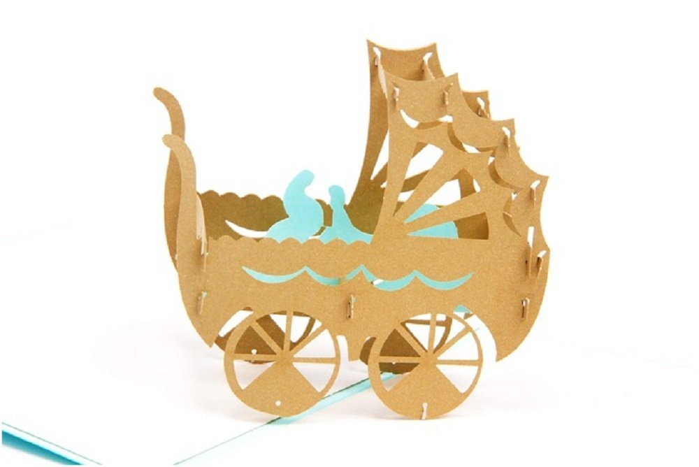 paare etc, BC Worldwide Ltd Handgemachte 3D pop-up popup gru/ßkarte baby junge geburt baby dusche neues leben gl/ückwunschkarte origami kirigami f/ür freund freund