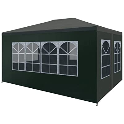 "Struggling D Party Tent 9'10""x13'1"" Green: Home & Kitchen"
