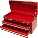 Homak Industrial 20-Inch 2-Drawer Friction Toolbox, Red Powder Coat, RD00202200
