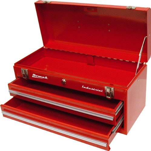 Homak Industrial 20-Inch 2-Drawer Friction Toolbox, Red Powder Coat, RD00202200 by Homak