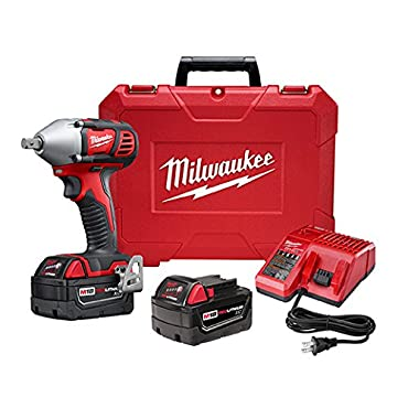 Milwaukee 2659-22 M18 1 / 2 Cordless Impact Wrench Kit with Pin Detent Kit