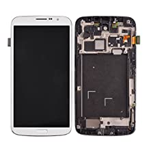 Replacement Pats, iPartsBuy LCD Display + Touch Screen Digitizer Assembly with Frame Replacement for Samsung Galaxy Mega 6.3 / i527 ( Color : White )