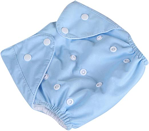 Modern Cloth Reusable Washable Baby Nappy Diaper /& Insert Little Baby Blue Seals