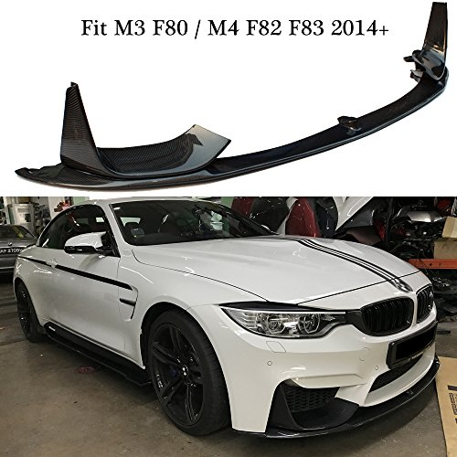 M performance style carbon fiber front lip splitter canards spoiler for BMW M3 F80 & M4 F82 & F83