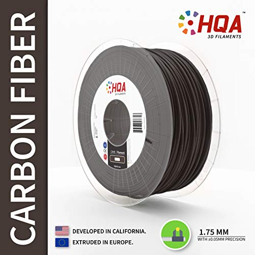 (HQA Carbon Fiber PETG 3D Printer Filament, Carbon, 1.75MM, 1KG Spool, Carbon Fiber, [Made in Europe] )
