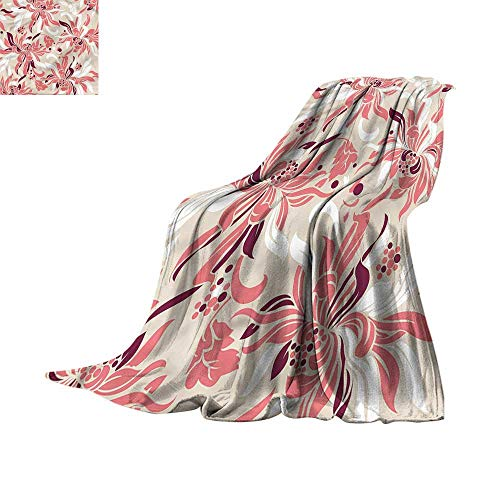 homehot Blanket Storage Bags with Zippers Floral,Blooms with Daisies Poppy 62