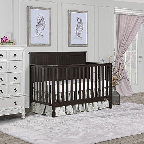Dream On Me Alexa 5-in-1 Convertible Crib, Mocha