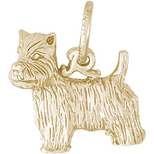 (Rembrandt Charms 14K Yellow Gold West Highland Terrier Charm (12 x 13 mm))