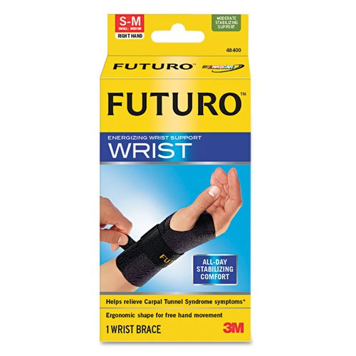 "UPC 611104861406, Futuro Energizing Wrist Support, Small/Medium, Fits Right Wrists 5 1/2"" - 6 3/4"", Black"