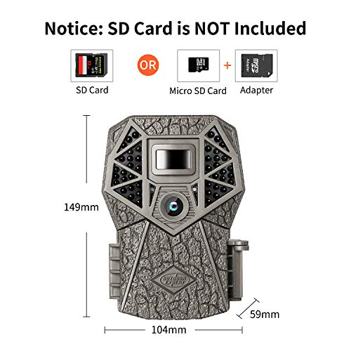 Trail Camera 20MP 1080P with Night Vision Motion Activated Waterproof Hunting Camera with 44pcs IR LEDs for Outdoor Wildlife Monitoring and Home Security