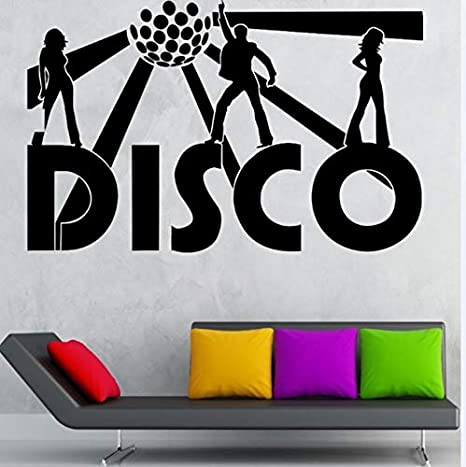 Brillintyy Vinilos De Pared Decorativos Disco Música Club