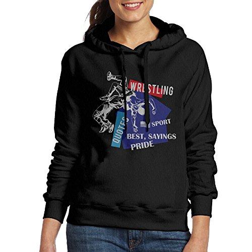 Woman's American Flag Wrestling Wrestling Gift Casual Hoodie Sweatshirt by Euge H