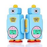 Retevis RT36 Kids Walkie Talkies Long Range Crystal Voice Vox Flashlight Kids Rechargeable Walkie Talkies Boys Girls (Blue,2 Pack)