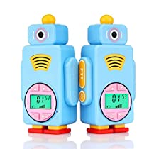 Retevis RT36 Kids Walkie Talkies Long Range Crystal Voice Vox Flashlight Kids Rechargeable Walkie Talkies Boys Girls (Blue,2 Pack)