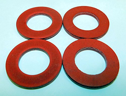 Four Pack Size #12 Fiber Meat Grinder Thrust Washer fits Hobart Auger Worm Gear and Others. Please Compare Measurements to Your Needs. ()