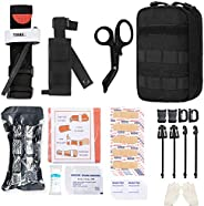 GRULLIN MOLLE IFAK Trauma Kit,Tactical First Aid Kit,Emergency EMT for Car Travel Adventure Kayak Camp Hunt,To