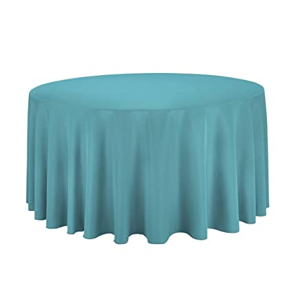 Marvelous LinenTablecloth 120 Inch Round Polyester Tablecloth Turquoise