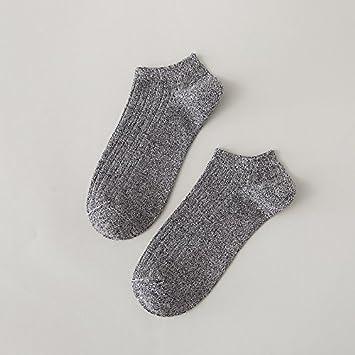 Calcetines de Verano Boca Superficial del Hombre Calcetines Calcetines de algodón Retro Deportes Baja Calcetines Calcetines